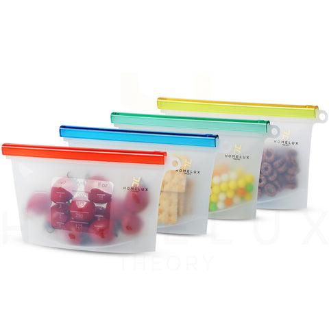 Reusable Silicone Food Storage Bags (4 Small)