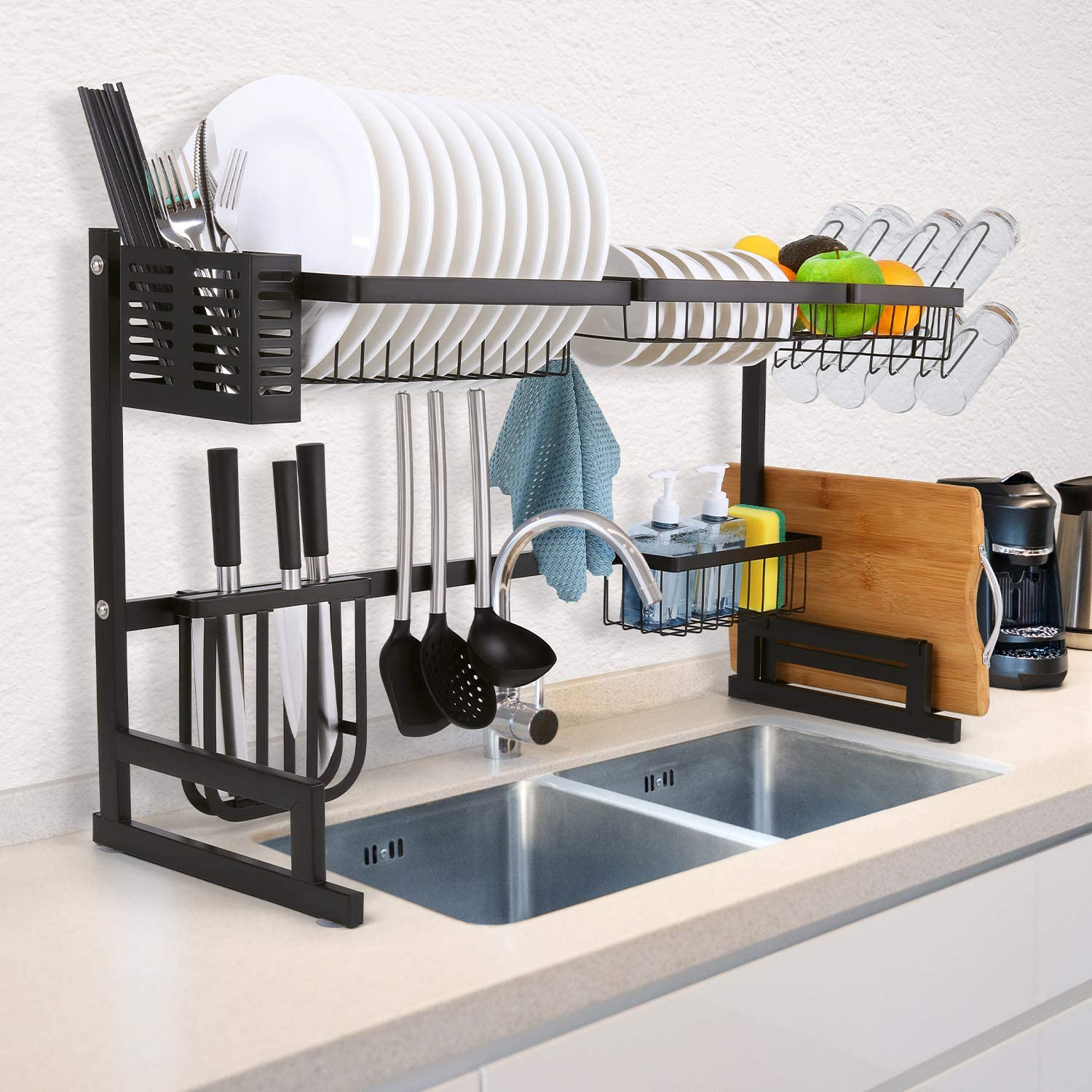 Over the Sink Dish Rack - Black (31.1