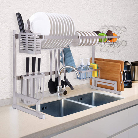 Over the Sink Dish Rack - Silver (31.1
