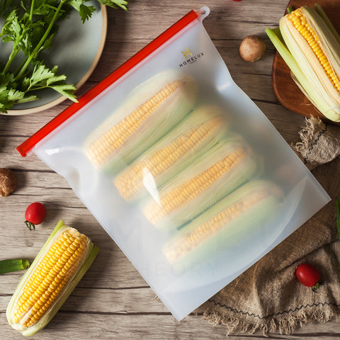 Reusable Silicone Food Storage Bags (2 Extra Large)