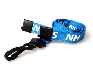 NHS Lanyards 15mm with Breakaway and Plastic J Clip - Promotions Only Lanyards