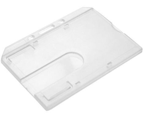 Enclosed Rigid Polycarbonate Card Holders – Landscape - Promotions Only Lanyards