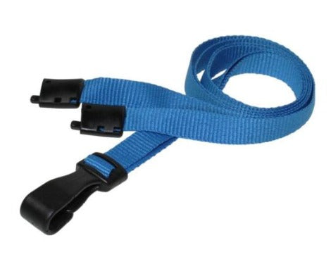 Plain Light Blue Lanyards 10mm Essential Range - Promotions Only Lanyards