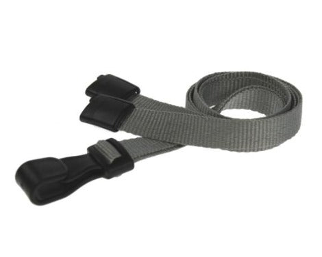 Plain Grey Lanyards 10mm Essential Range - Promotions Only Lanyards