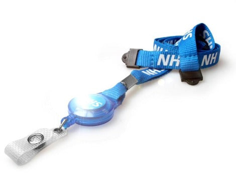 NHS Staff Lanyards with Double Breakaway and Retractable
