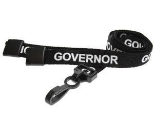 Black Governor Lanyards 15mm - Promotions Only Lanyards