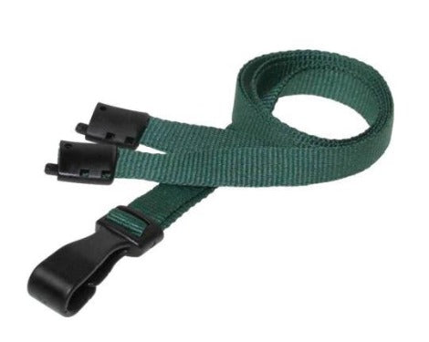 Essential Range 10mm Unbranded Lanyard in Dark Green