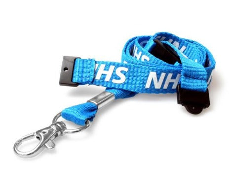 NHS Pre-Printed 15mm Lanyard with Executive Swivel and Two Breakaways
