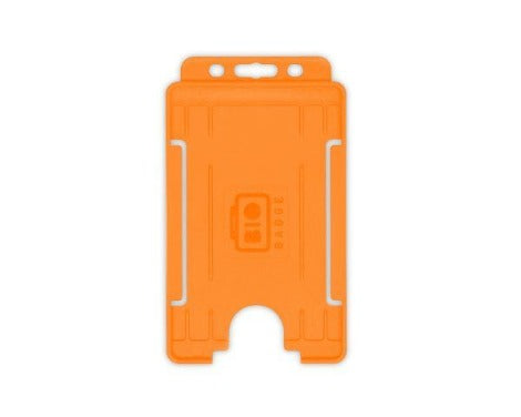 Orange Single-Sided BIOBADGE Open Faced ID Card Holders - Portrait