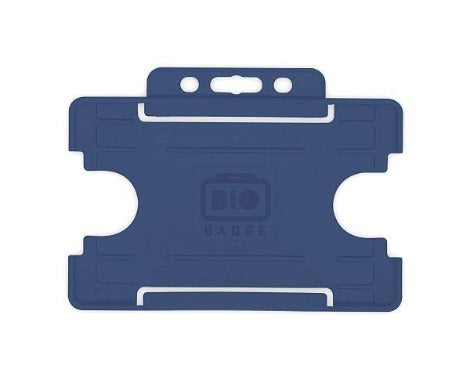 Dark Blue Card Holders BIOBADGE Single-Sided Landscape - Promotions Only Lanyards