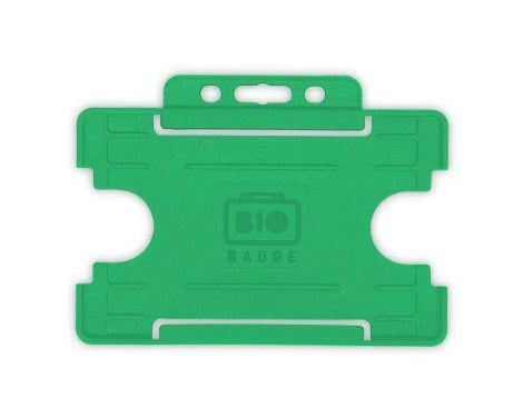 Light Green Card Holder BioBadge Single-Sided Landscape - Promotions Only Lanyards