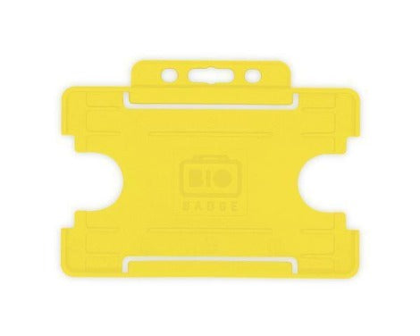 Yellow Single-Sided BIOBADGE Open Faced ID Card Holders - Promotions Only Lanyards