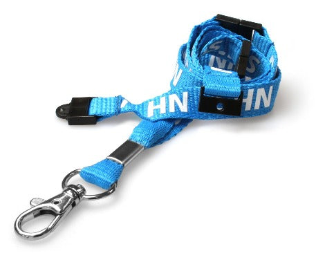 NHS Pre-Printed 15mm Lanyard with Executive Swivel and Three Breakaways