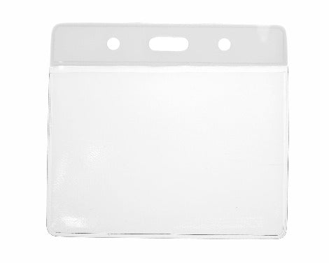 White Colour Coded PVC Clear Plastic Card Holder - Credit Card Size - Promotions Only Lanyards
