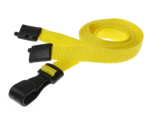 Essential Range 10mm Unbranded Lanyard in Yellow