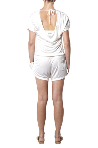 Playsuit Short - White