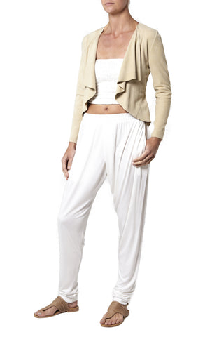 Cross Over Pant - White
