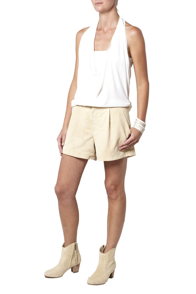 Suede Shorts - Cream