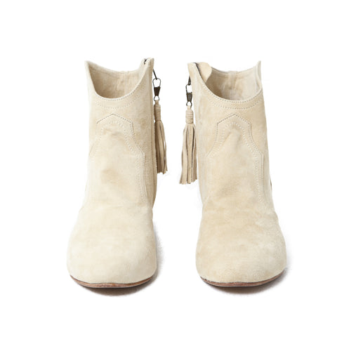 Ankle Boots - Suede Cream – addicted