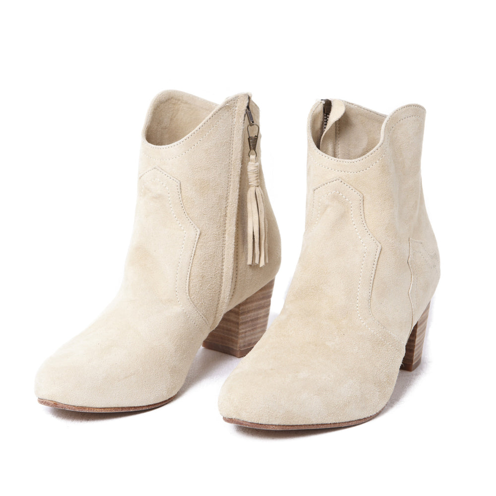 Ankle Boots - Suede Cream