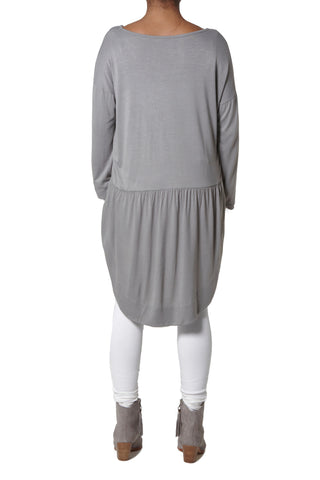 Jersey Tuxedo Top - Light grey