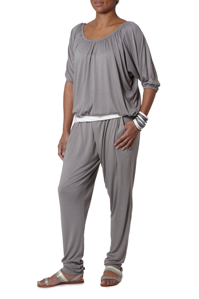 Cross Over Pants - Grey