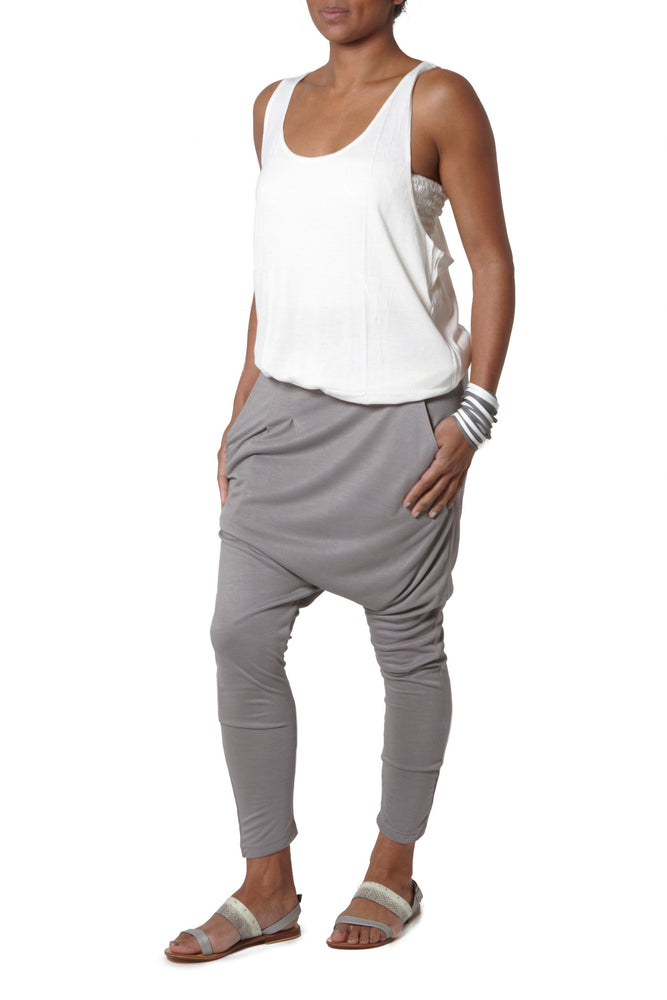 Jersey flattering soft harem Light Grey