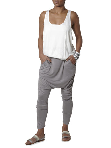 Harem Pants 3/4 Length - Light Grey