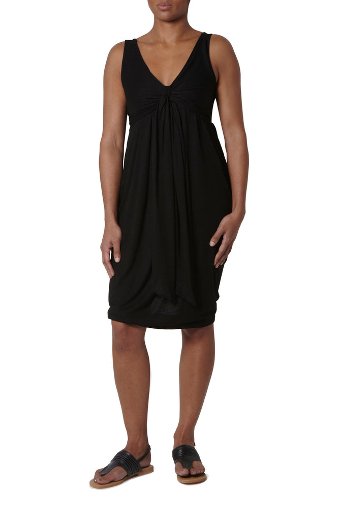 Dress with straps - Black