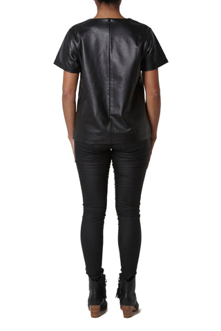 Leather Top - Black