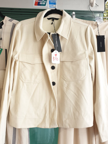Soft Cream Jacket with trendy buttons