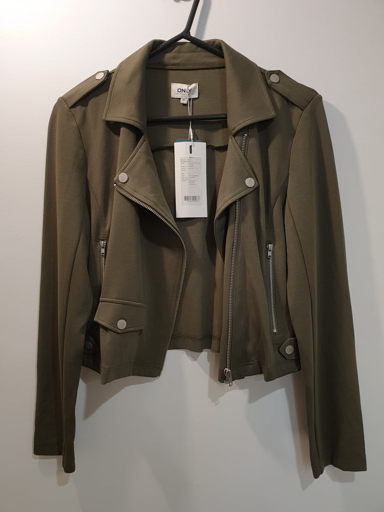 "Green cool ""biker"" jacket in cotton"