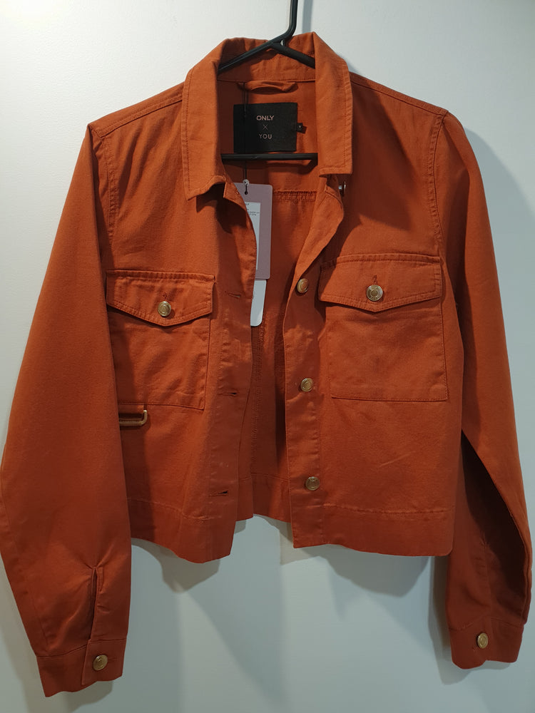 Organic cotton burnt orange jacket
