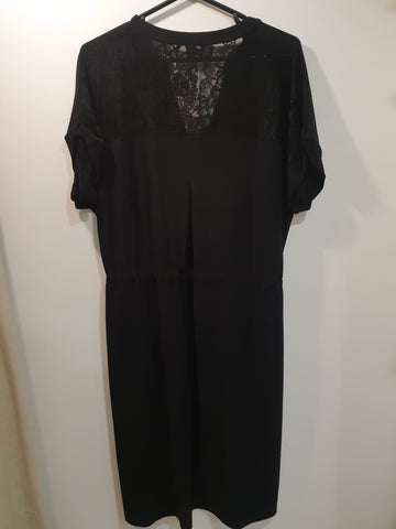 Jersey dress with lace in back sz 14-18