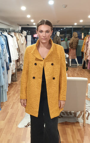 Dark Yellow wool coat