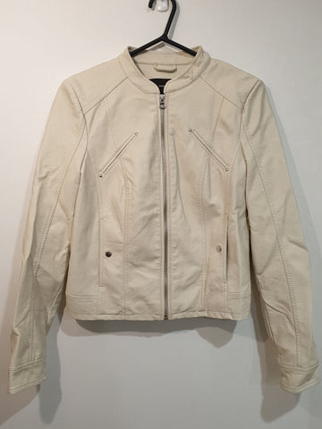 Leather Faux Jacket - Cream