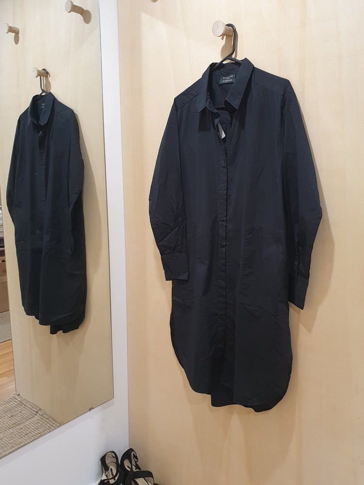 Oversized long shirt/dress - Black