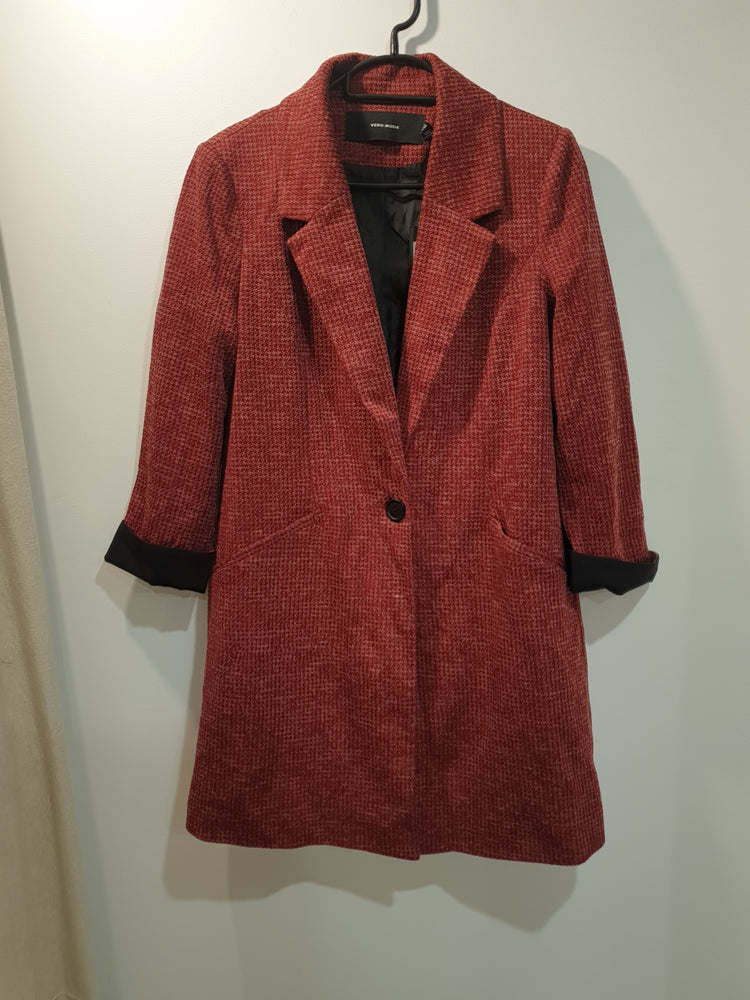 Long boyfriend relaxed trendy coat/jacket