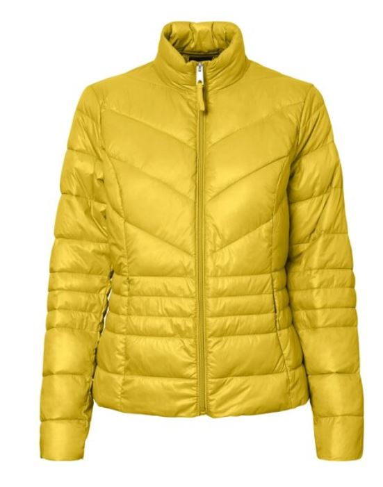 Bright Yellow Light weight Puffer Jacket