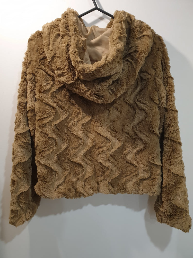 Soft Faux Fur Jacket- Beige