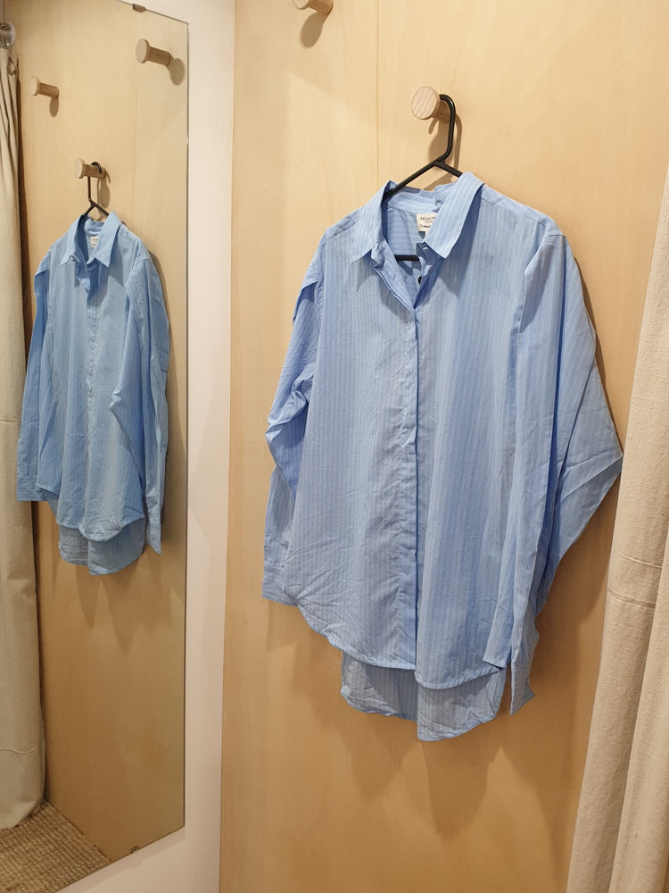 Baby blue boyfriend shirt