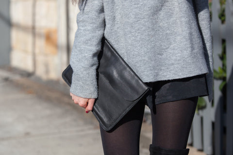 Super soft Leather Clutch