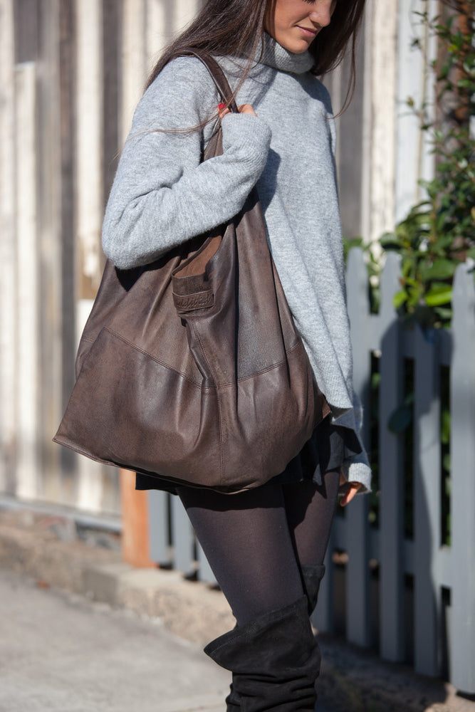 Weekend Big Soft leather bag-Vintage Brown $98 (159)