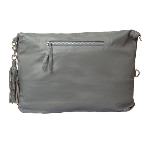 Fold Over Two Way Bag - Grey