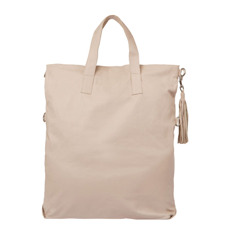 Fold Over Two Way Bag - Cream
