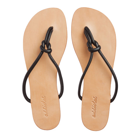 Leather Sandals - Cream