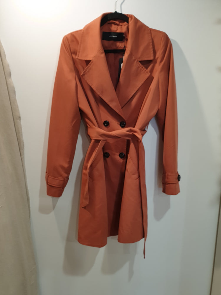 Classic Burnt orange trench coat