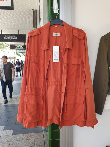 cotton jacket- coral red