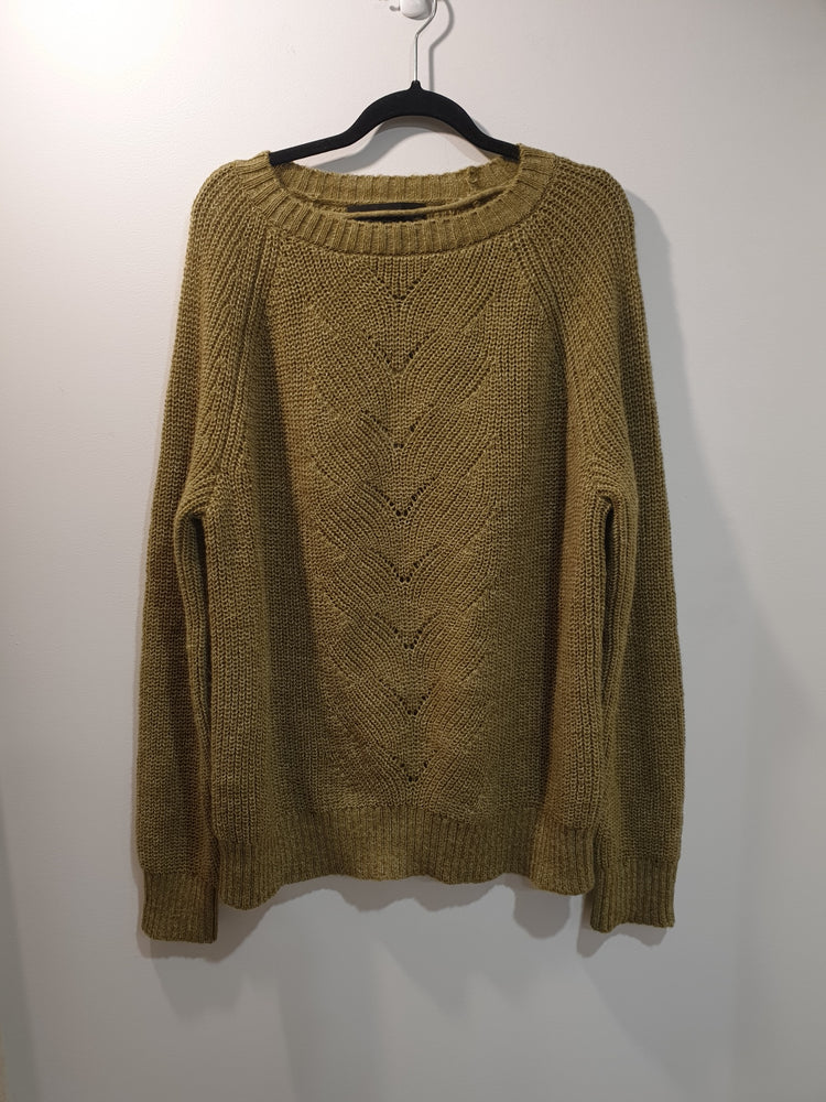 Knitted  green jumper