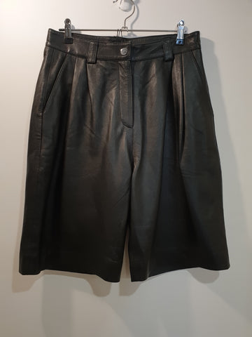 Unique Soft Leather Shorts